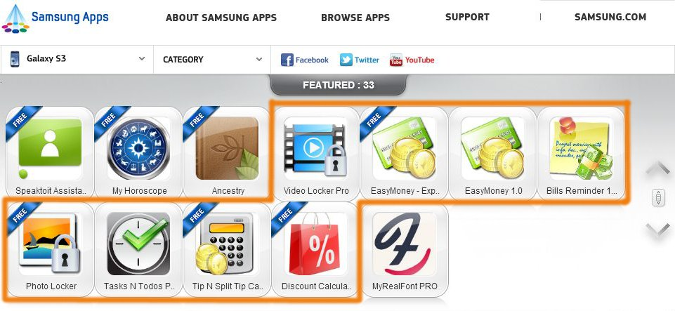most popular samsung apps