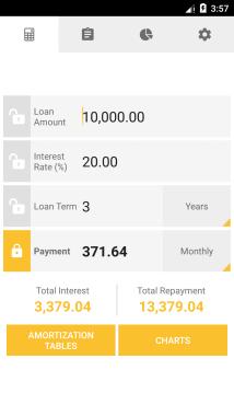 Loan Calculator Main Screen